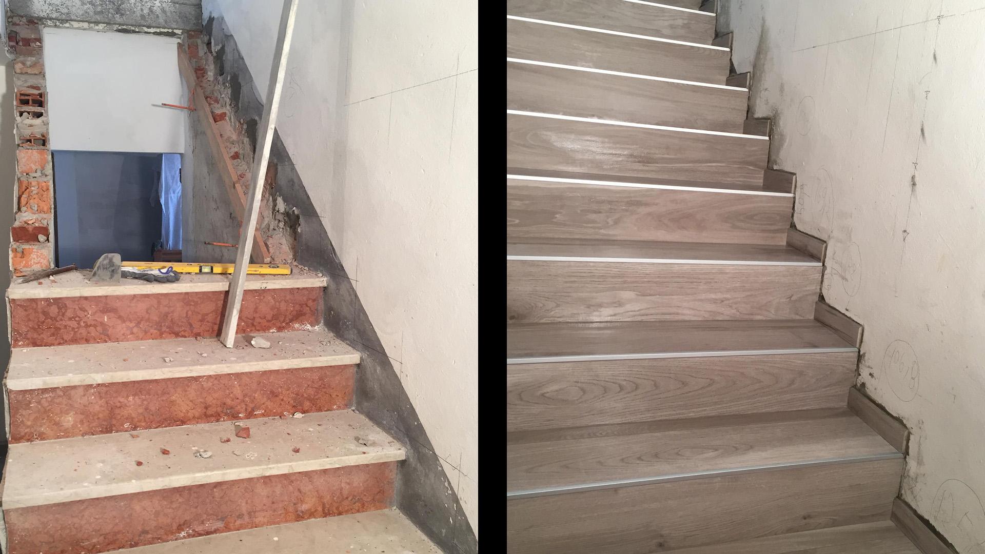 scale prima e dopo